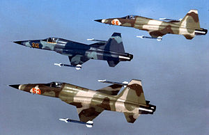 Three F-5E agressors from Alconbury 1983.jpg