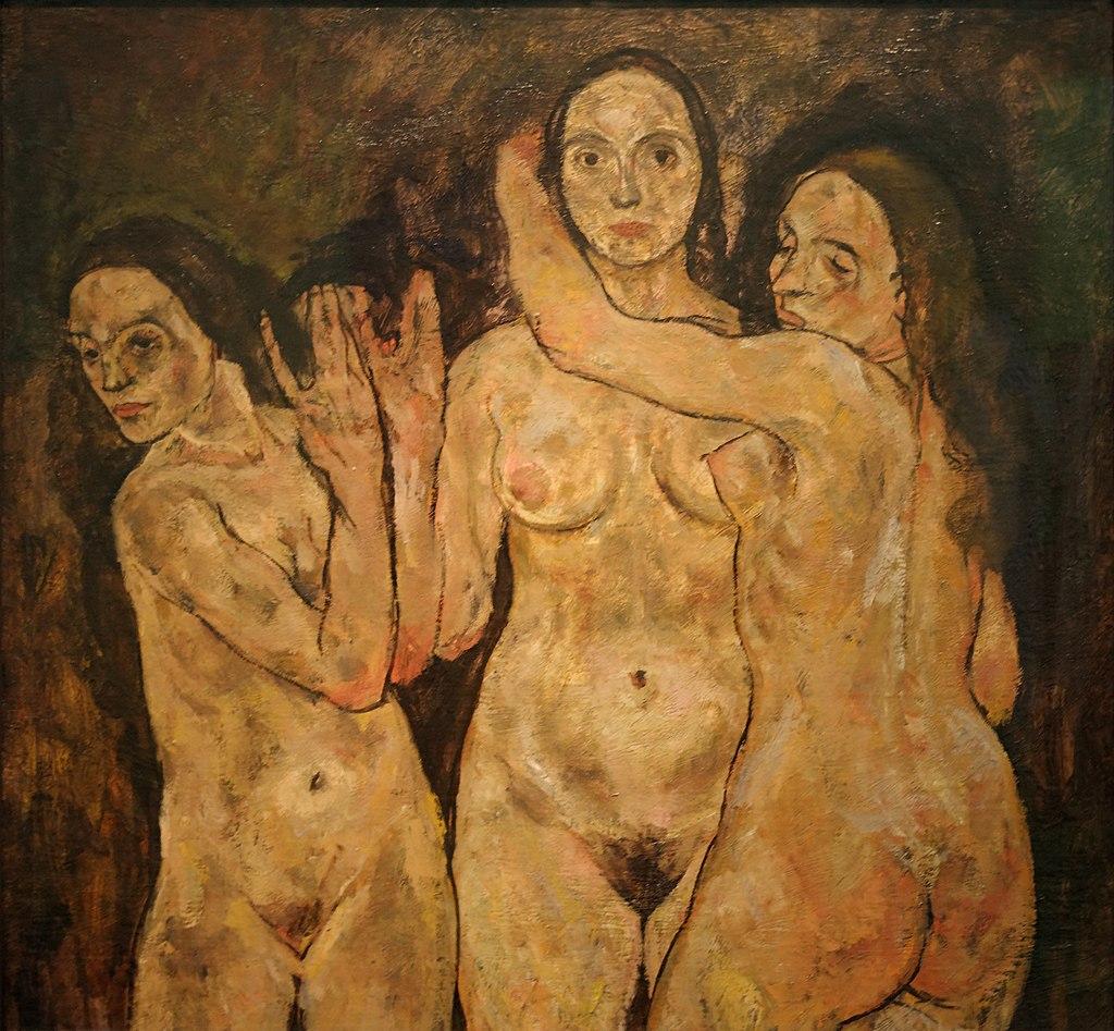 Trois femmes debout - Egon Schiele 1024px-Three_Standing_Women_Egon_Schiele