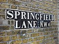 Tile Road sign, Springfield Lane - geograph.org.uk - 745236.jpg