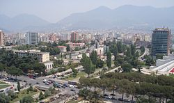 Tirana View from Sky Tower 4.JPG