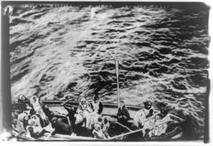 Titanic survivors on way to rescue ship Carpathia.png
