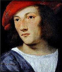 Porträt eine jungen Mannes mit rotem Barrett