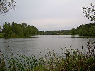 Tlmače - Image: Tlmace lake on the river hron