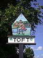 Toft Village Sign (east side) - geograph.org.uk - 878620.jpg