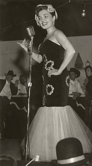 "Frontier Fiesta - Jenna Coy Huddleston at the Tombstone Theater, one of the ""Top Acts"" during Frontier Fiesta 1956"