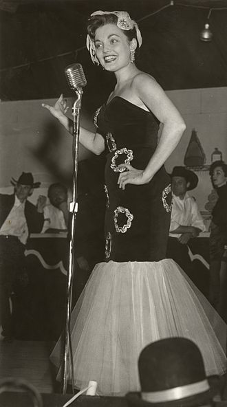 """Frontier Fiesta - Jenna Coy Huddleston at the Tombstone Theater, one of the """"Top Acts"""" during Frontier Fiesta 1956"""
