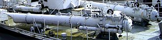 Torpedo tube - Rear torpedo tube of a former German ''Jaguar'' class Schnellboot (MTB)