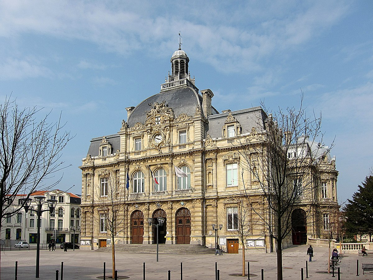 Tourcoing wikip dia for Carte de france hotel