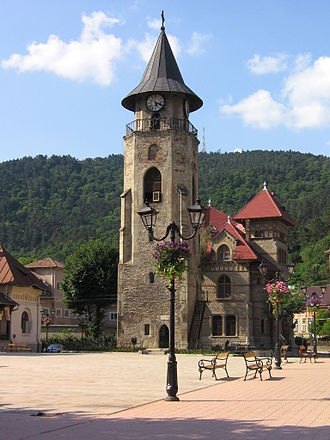 Piatra Neamț - 15th century Stephen's Tower (the city symbol) in the medieval town square