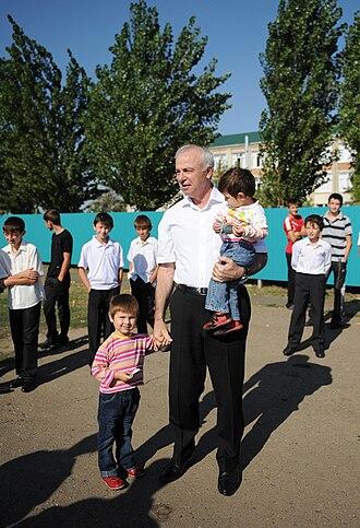 Adygea - Former Head of the Republic of Adygea, Aslan Tkhakushinov, in 2010