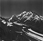 Traleika Glacier, valley glacier with a section heavily covered with rocks, August 24, 1979 (GLACIERS 5091).jpg