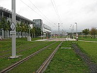 Tram stop at Edinburgh Park (geograph 3700514).jpg