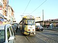 Trams in Ropsy Chaudron street, Anderlecht (495203482).jpg