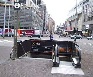 Spui RandstadRail station - Image: Tramstation Spui ingang