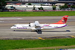TransAsia Airways ATR 72-212A B-22822 Departing from Taipei Songshan Airport 20150908b.jpg
