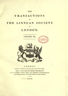 Transactions of the Linnean Society of London, Volume 20.djvu
