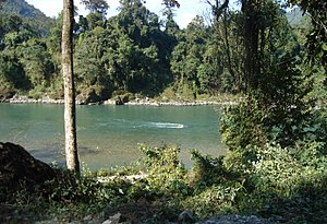 Manas River - Clear waters of the Manas River in the sanctuary