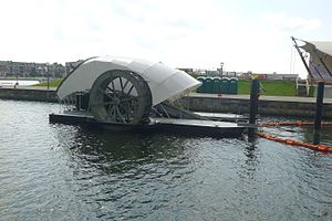Mr. Trash Wheel - Another view of the vessel
