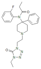 Chemical structure of trefentanil.