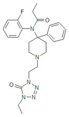 Kemia strukturo de trefentanil.