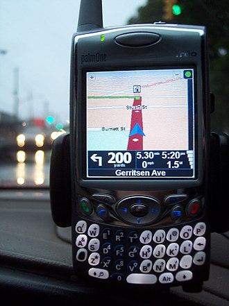 Treo 650 - Treo 650 running TomTom Navigator 6