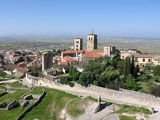 Trujillo, Cáceres - The Church of Santa María la Mayor with its two towers is an important part of the skyline