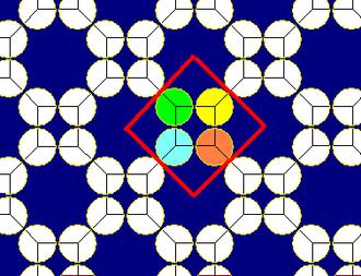 Truncated square tiling - Image: Truncated square tiling circle packing