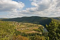 Truyère Valley at St. Hippolyte, Aveyron, France, Sept. 2008.jpg