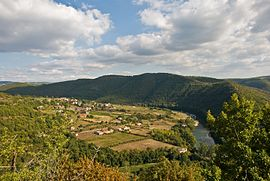 Truyère Valley at St. Hippolyte, Aveyron, France, Sept. 2008.jpg