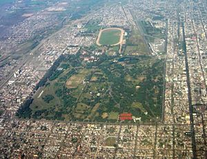 Ninth of July Park - Aerial view of the park and surroundings
