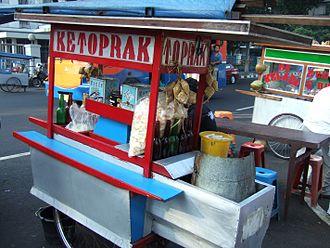Betawi cuisine - Ketoprak street vendor in Jakarta.