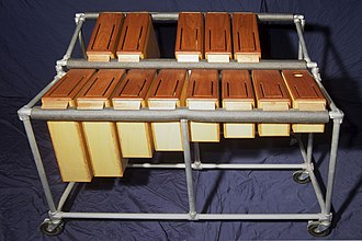 Slit drum - Chromatically tuned log drums, range C3–C4