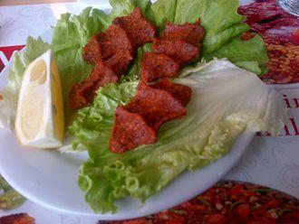 Çiğ köfte - Çiğ köfte meal in Turkey