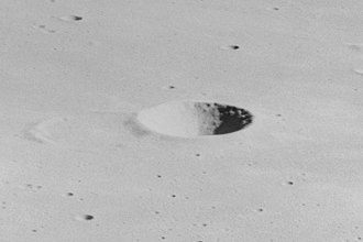 Turner (crater) - Oblique view of Turner from Apollo 16