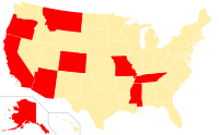 Type I constitutional ban on same-sex unions US.svg