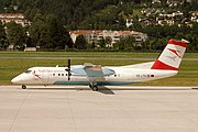 Tyrolean Airways (OE-LTK) taxies at the airline's Innsbruck - Kranebitten Airport
