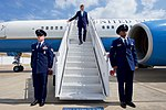 "U.S. Air Force ""Raven"" Security Guards Stand at Attention as Secretary Kerry Deplanes at George Bush Intercontinental Airport in Houston for a Speech at Rice University's Baker Institute (26664496125).jpg"