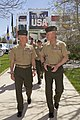 U.S. Marine Corps Gen. James F. Amos, left, the commandant of the Marine Corps, walks with Sgt. Maj. of the Marine Corps Micheal P. Barrett while attending the 2013 Warrior Games at the U.S. Olympic Training 130512-M-LU710-072.jpg