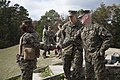 U.S. Marine Corps Lt. Gen. Richard T. Tryon, commander, U.S. Marine Corps Forces Command greets Staff Sgt. Juanita C. Towns, combat instructor, Delta Company, Infantry Training Battalion, School of Infantry-East 131105-M-AX605-041.jpg