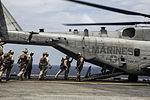U.S. Marines fast rope from CH-53E Super Stallion at Sea 150617-M-SV584-095.jpg