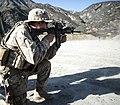 U.S. Navy Hospitalman Garret Gagnon fires an M4 carbine Sept 140902-N-TC501-091.jpg