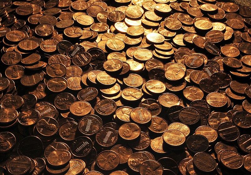 File:U.S. pennies, 2008.jpg