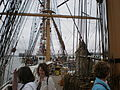 USCGC Eagle main deck during Festival of Sail 2008 SF 4.JPG