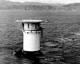 Mile Rocks Lighthouse - Image: USC Gmilerocks After