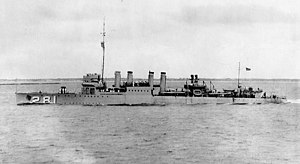 USS Sharkey (DD-281) underway in 1924.