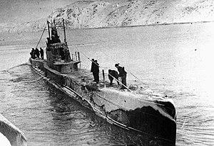 Shchuka-class submarine - Shch-401, a Series X Shchuka of the Northern Fleet, before the USSR's entry into World War II