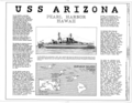 USS Arizona, Submerged off Ford Island, Pearl Harbor, Honolulu, Honolulu County, HI HAER HI,2-HONLU,31- (sheet 1 of 4).png