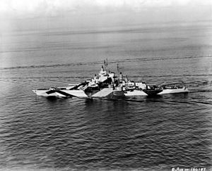 USS California (BB-44) - California after rebuilding