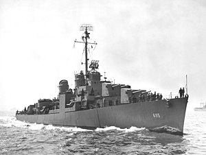 USS Cooper, in New York before commissioning