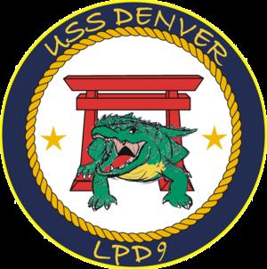 USS Denver (LPD-9) - Image: USS Denver LPD 9 Crest